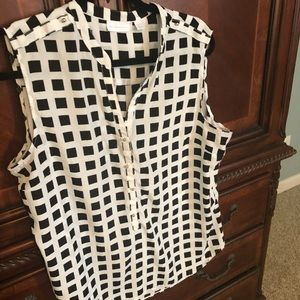 Checkered Dress tank top
